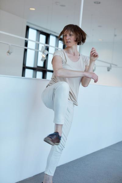 Mary Wycherley performing invisible histories dance